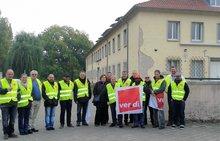 Warnstreik Zivilbeschäftigte der franz. Streikräfte in Mühlheim