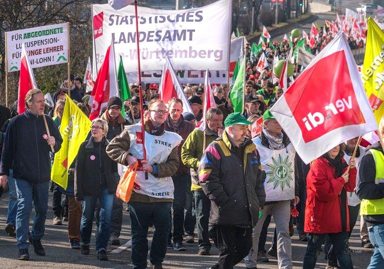 Demo Warnstreik Tarifrunde 2017 Länder