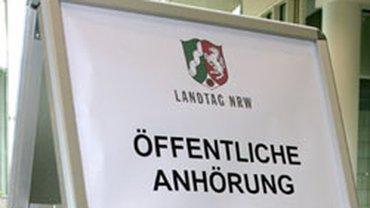 Anhörung im NRW-Landtag