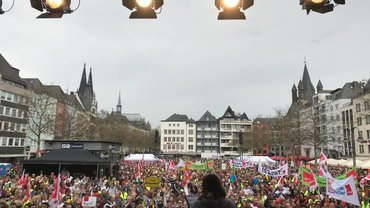 Warnstreik in Köln