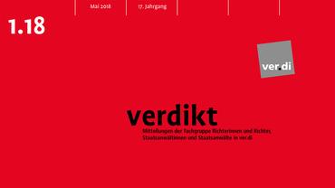 Bild zeigt Titelseite der verdikt 2.18