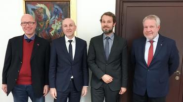 v. l. Stefan Adamski, Dr. Rolf Bösinger, Nils Kammradt, Helmut Schmedemann