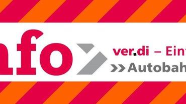 Das Cover des ver.di-Info zur Autobahn GmbH