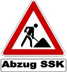 Baustellenwarnschild Abzug SSK