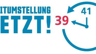 """Das Logo der Kampagne """"Zeitumstellung jetzt"""""""