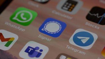 Handy Display mit Apps, Telegram